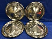 Vintage Set Of 4 1960 Ford 14andrdquo Hubcaps Fairlane Galaxie Starliner Sunliner Gc