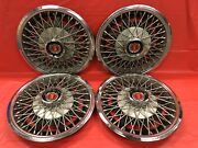 """Rare Are Vintage Set Of 4 1977-80 Ford/mercury 13"""" Spoke Hubcaps Mustang Bobcat"""