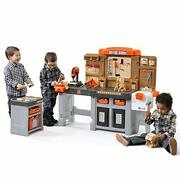 Step2 Pro Play Workshop And Utility Bench | Kids Pretend Play Workbench And Tools...