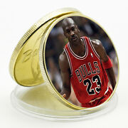 Michael Jordan Commemorative Lucky Gold Plated Metal Coin Challenge Coin