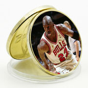 Michael Jordan Commemorative Lucky Gold Plated Metal Coin 2021 New Year Gift