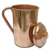 Pure Copper Smooth Water Jug/copper Pitcher For Ayurveda Health Benefit 100 Fs