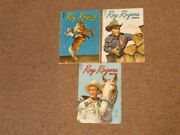 3 1949 Roy Rogers Dell Comic Books 20. 21 And 23-western Cowboy