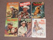 6 1951-1956 Roy Rogers Dell Comic Books 45, 4, 68, 54, 76, 98-western Cowboy