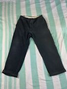 Vintage 1930and039s Faded Black Sanforized Cotton Whipcord Pants Mens Work Wear Usa