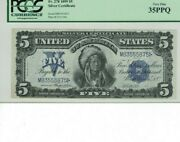 Fr. 278. 1899 5 Silver Certificate. Pcgs Currency Very Fine 35 Ppq Nice