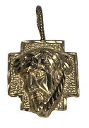 14kt Face Of Jesus Cross Pendant Charm Medal Unisex Solid Yellow Gold