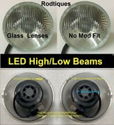 7 Led Headlights High/low Maxtel Head Lamps Upgrade Led Conversion - 4