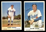 1961 Bell Brand Dodgers Baseball Almost Complete Set 4 - Vg/ex