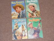 4 1951-52 Roy Rogers Dell Comic Books 38. 44, 51 And 59-western Cowboy
