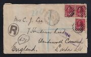 Canada 1916 Vernon Camp Field Post Office Registered Military Cover To London Uk