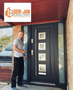 Composite Entrance Front Doors + 2 Side Panels High Quality Size 900mm