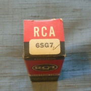 Early Vintage Rca Radio Tube 6sg7 In Original Black And Red Box