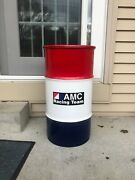 Vintage Amc Racing Javelin Trash Can Storage Container Sports Team