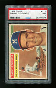 Danny O'connell 1956 Topps 272 Gray Back - Psa 7 Nm - Milwaukee Braves