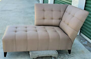Vintage Donghia Taupe Bisquit Tufted Chaise Longue By John Hutton