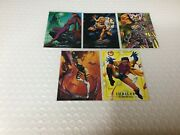1992 Marvel Masterpieces Complete Lost Ladies Insert Card Set - Lm1-lm5 - Nm