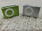 Two 2 Apple Ipod Shuffles 2nd Generation, New Batteries In Both-for Parts Only
