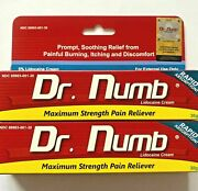 2x Dr Numb 5 Cream 30 Gr Skin Numbing For Ink Waxing Piercing - Exp. 12/2023