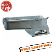 Moroso 20191 7 Quart 8-1/4 Deep Wet Sump Engine Oil Pan For Small Block Chevy