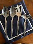 Riviera Stainless Flatware Cordova 4 Serving Pieces Japan- Fork, Ladle, Spoons