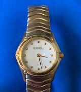 Beautiful Ladies Ebel Stainless Steel Swiss Made Wristwatch Mother Of Pearl Face
