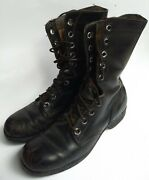 Vintage 1975 Us Military Ro Search Black Leather Combat Boots Menandrsquos Size 8r