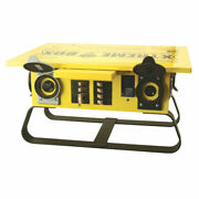 Coleman Cable 19703r02 Temporary Power Box Strt Bld Sled And 01919 100and039 Power Cord