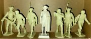 1950s Marx American Heroes S1 Gen Washinton And Revolutionary War Soldiers W/box