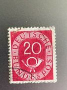 Stamp Germany Posthorn And Numeral Deutsche Bundespost 20