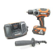 Ridgid Power Tools R86116 18v 1/2and039and039 Cordless Hammer Drill - 4ah Battery Charger