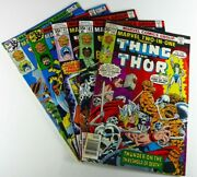 Marvel Two-in-one 1976-1978 22 41 42 44 45 Fn- To Vf- Lot Ships Free