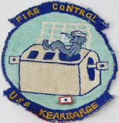 Vtg Post Wwii Korea Us Navy Uss Kearsarge Aircraft Carrier Fire Control Patch 5