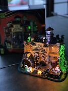 """Retired Lemax Spooky Town Halloween """"isle Of No Return"""" Prison Nib Sights Andsound"""