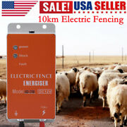 10km Electric Fencing Livestock Ranch Fence Energizer Charger Animals Controller