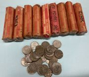 1943 P Lincoln Cent 1c Steel Zinc Pennies 9 Rolls + 33 Circulated And Unsearched