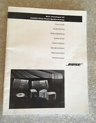 Bose Acoustimass 10 Home Theater Service Manual