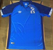 El Salvador 2019/2020 Home Soccer Jersey Umbro Menand039s Blue S-m-l-xl New With Tags