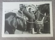 Stanley Newton Original Photo Lithograph Cowboy Horse Rope Western Rodeo Nice
