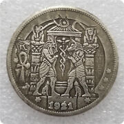 Us Hobo Nickel Coins 1921-p Anubis And Eagle Collect Coins Crafts Home Decorat