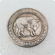 Hobo Nickel Coins 1881-cc Wolf In Sheepand039s Skin Engraving Coin Coins Collection