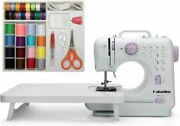 Gd015aw Mini Sewing Machine Small Electric 2 Speed 12 Built-in Stitch Patterns