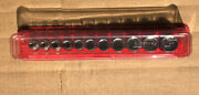 Great Shape Snap-on 3/8andrdquo 11pc Sae Shallow Socket Set Magnetic Tray And Dust Cover