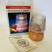 Vtg Lamplight Farms Fragrance Lamp Strawberry Scented Disposable Ultra Pure Oil