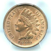 1889 Indian Head Cent, Pcgs Ms64rb