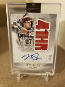 2019 Topps Luminaries Mike Trout Jersey On Card Auto 3/15