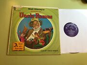 Disney Lp Stories Of Uncle Remus Record W/book St 3907 Song Of The South 1967