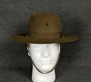 Vintage Official Boy Scouts Of America Hat Size 6 3/4 Felt Brown