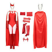 Wanda Vision Scarlet Witch Cosplay Costume Women Sexy Jumpsuit Cloak Halloween