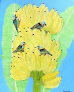 Birds Of A Feather Brazil Original Oil Painting